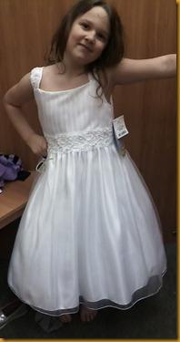 evans flower girl dress
