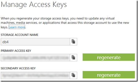 For The Next Task Iu0027m Using Windows Azure Storage Explorer (download Here).  Here You Can Add Your Storage Account By Pasting The Access Key Into The  Storage ...