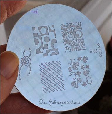 Stamping Plate Schablone Konad m65
