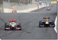Il duello tra Hamilton e Webber nel gran premio della Corea 2011