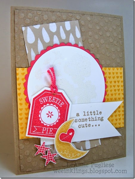 LeAnne Pugliese WeeInklings Hello Darling Num Num Something to Say Stampin Up Baby Card