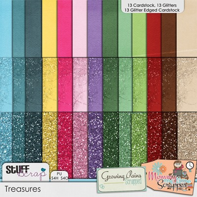 Treasures - Cardstock and Glitters