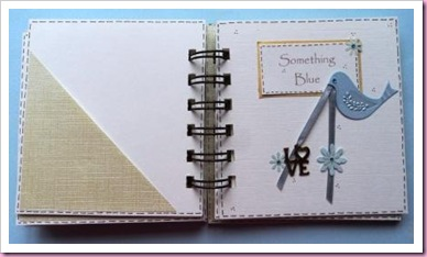 Something Blue Bind It All Mini Wedding Book