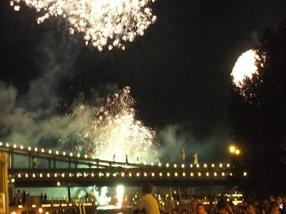 fuegos artificales en Budapest