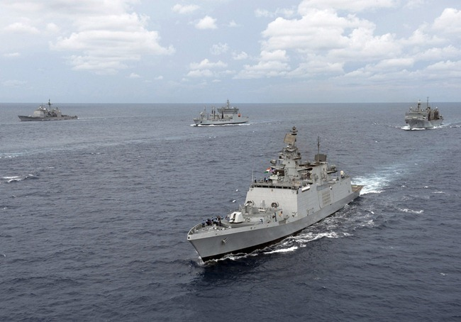 Shivalik Class Destroyer INS Satpura, Deepak Class Fleet Tanker INS Shakti [Indian Navy Wallpaper]
