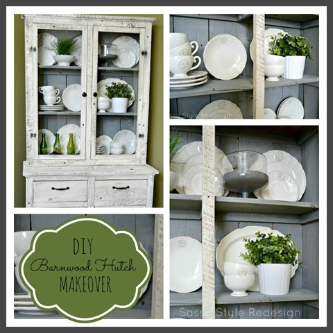 DIY Barnwood Hutch Makeover-Sassy Style Redesign