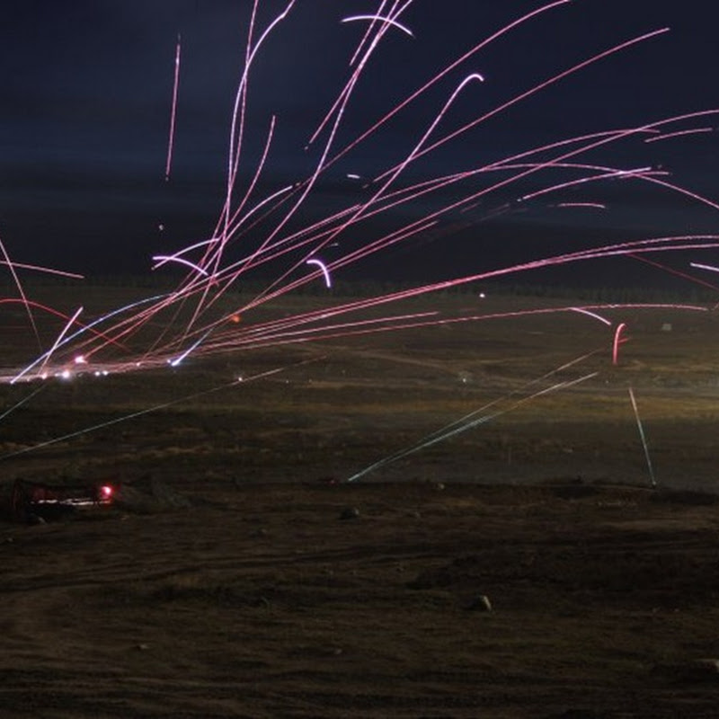Long Exposure Photos of Night-time Air Attacks