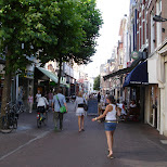 downtown haarlem in Haarlem, Noord Holland, Netherlands