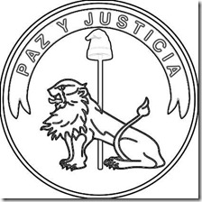Escudo del Paraguay Anverso - Frente para colorear pintar