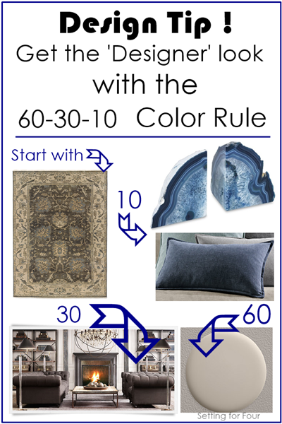 Design Tip 60-30-10 Color Rule from Setting for Four