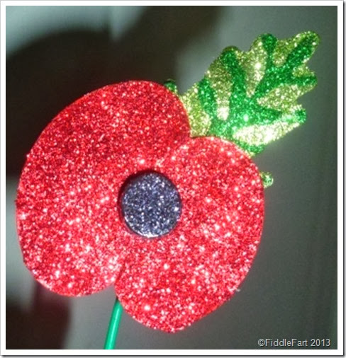 Glittered Rememberance Poppy.