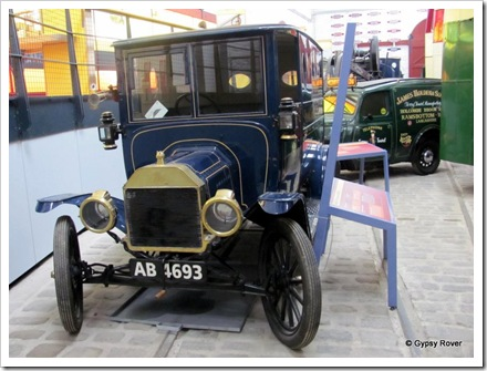 "Circa 1914 model ""T"" ford van. Note the non electric lights."