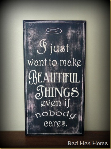 beautiful things cupboard door sign
