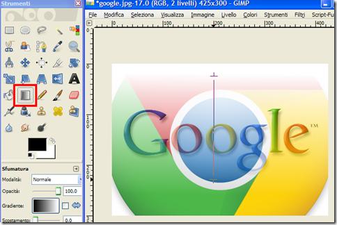 GIMP sfumare immagine