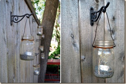 lanternas com pote de vidro