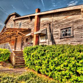 Peanut Warehouse by Cathie Crow - Buildings & Architecture Public & Historical ( peanut warehouse, historical landmark, warehouse, historic conway, hdr photography, south carolina )