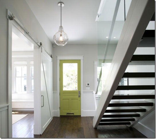 apple green interior door via apartment therapy