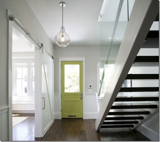 Captivating Apple Green Interior Door Via Apartment Therapy