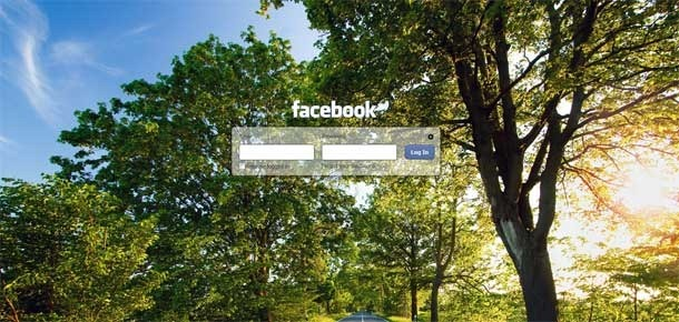 facebook login screen changer
