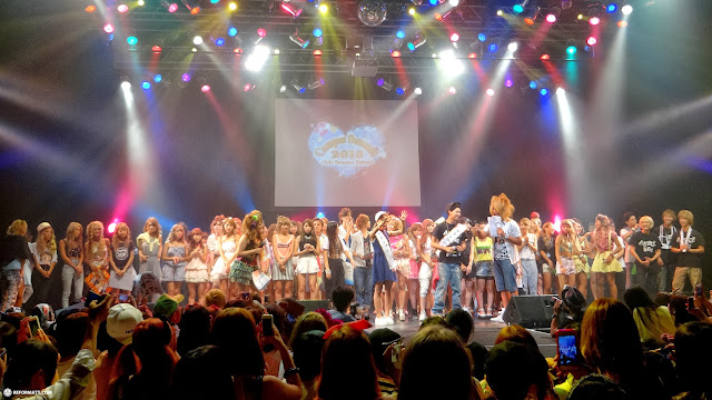 fashion models on stage at Campus Summit 2013 in Shibuya in Shibuya, Tokyo, Japan
