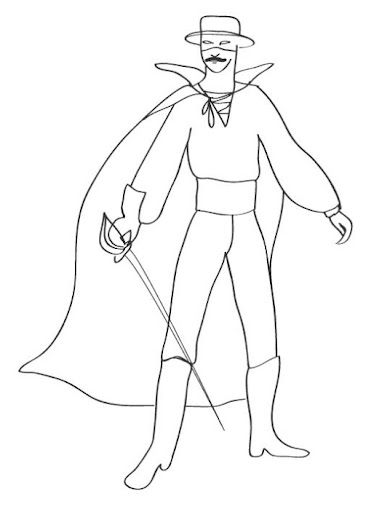 Coloring Pages Zorro : Free coloring pages of zorro animal