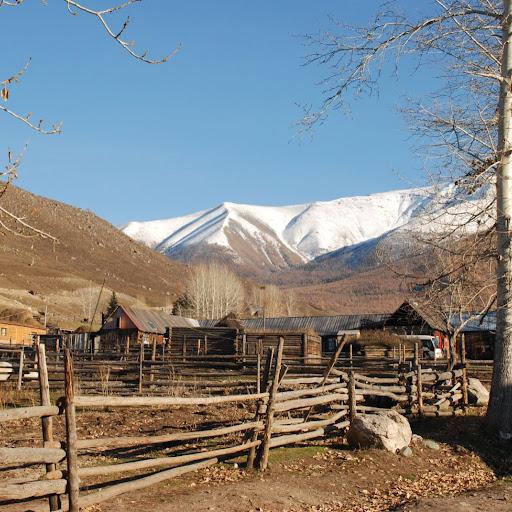 Xinjiang, Baihaba - Village & Montagnes