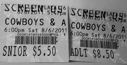 Cowboys & Aliens Tickets