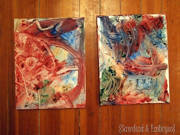 Toddler Artwork {Sawdust and Embryos}
