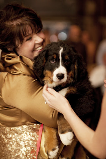 My mom carried Winnie across the dance floor.