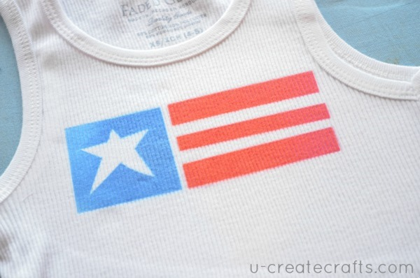 DIY July 4th tank top