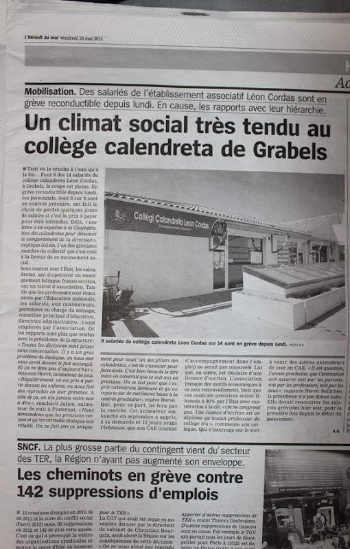 L'herault du jour 24 mai 2013
