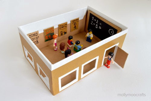 School from a Shoebox from MollyMoo