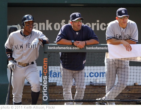 'Curtis Granderson, Joe Girardi' photo (c) 2011, Keith Allison - license: http://creativecommons.org/licenses/by-sa/2.0/