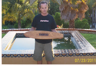 "Ed Economy gave us this 34"" Sq. tail. A very rare board he purchased from a swap meet, way cool, thanks Ed!"