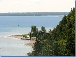 3372 Michigan Mackinac Island - Carriage Tours - view from the lookout at Arch Rock