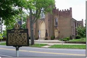 John Todd Stuart marker across from Danville Presbyterian Church