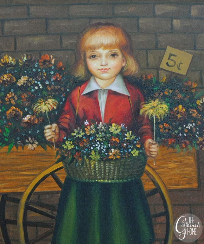 thrift score thursday girl painting2
