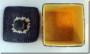 black retro box lid off