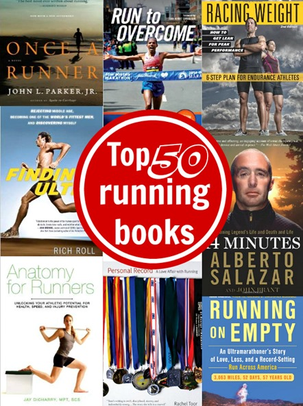Top 50 running books of all time for motivation, training and fueling