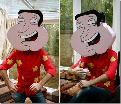 Quagmire disfraz padfre de familia