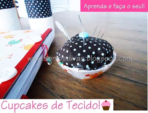 cupcake de tecido - blog somos divas
