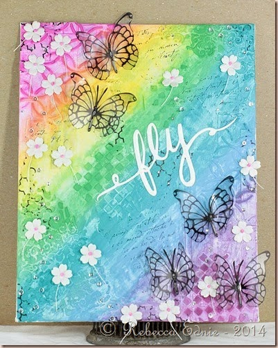 rainbow butterflies canvas
