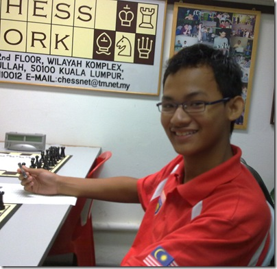 Mohd Faizal b Roslan, winner of RSC Junior Group B 2012