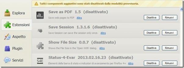 Componenti aggiuntivi di Firefox