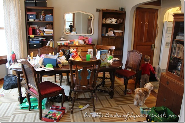 toys in dining room