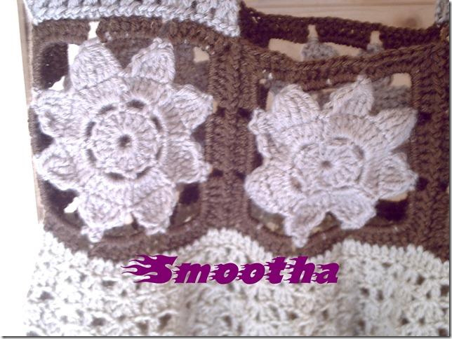 Vestido de crochet castanho e beje (1)
