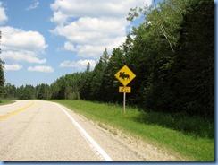 2169 Manitoba Hwy 10 North Riding Mountain National Park - moose warning sign