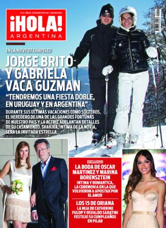 Brenda gandini y gonzalo heredia en revista hola for Revistas del espectaculo