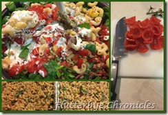 BLT Macaroni Salad Collage