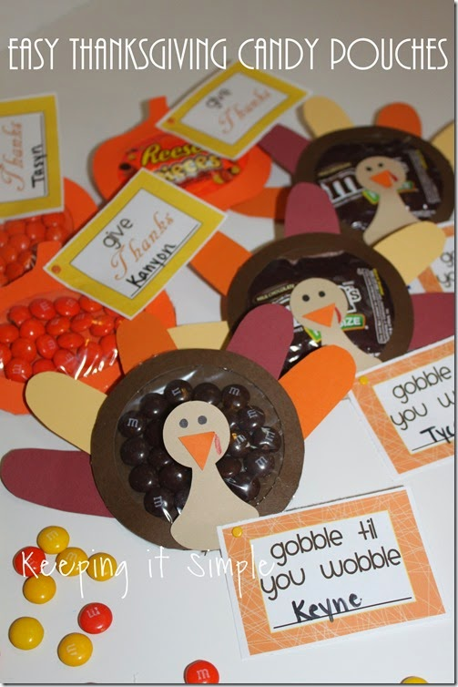 Easy Thanksgiving Candy Pouches